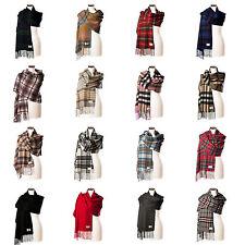 Women's Plaids Checks 100% Cashmere Scarves & Shawls