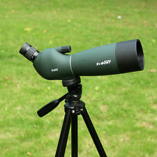 SVBONY 25-75x70mm Angled Zoom Spotting Scope Waterproof Telescope w/ Tripod Case