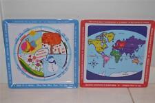 Children's Boys Girls Education Maps & Seasons Dinner Plate Set, Gift, unwanted