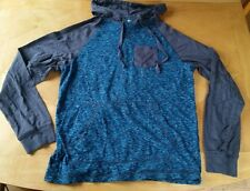 EUC ALWAYS PUSH FORWARD YOUNG MENS XL HOODIE SPACE DYED BLUE GRAY