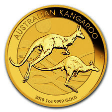 2018 Australia 1 oz Gold Kangaroo BU - SKU #168820