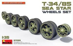 """MIN37033 - Miniart 1:35 - T34/85 """"Sea Star"""" Wheels Set"""