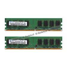 2GB 2x1GB DDR2-533Mhz PC2-4200 Non-ECC Desktop 240Pin Dimm Memory For Samsung