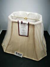 Royal Designs Rectangle Cut Corner Lamp Shade - Eggshell