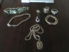 Mixed Sterling Silver 925 Jewelry Lot All Styles And Sizes Marked 61 Grams.