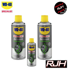 WD40 Specialist Motorbike Motorcycle Chain Cleaner X2 400ml + 100ml Harley