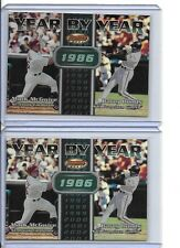2000 Bowmans Best Year By Year 2  Mark McGwire Barry Bonds CARDS #YY7