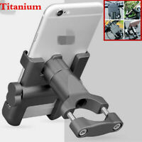 Motorcycle Phone Holder Titanium Aluminum CNC Handlebar Mount Stand For iPhone