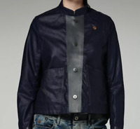 G-Star Jacket Lined Trason Dark Blue Buttoned Raw Ladies UK 8 XS *ref49