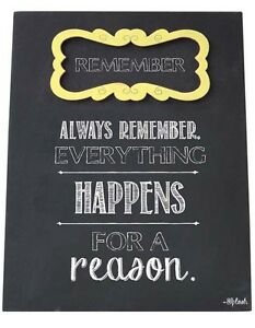 Remember Sign Plaque Everything Happens For A Reason Gift For Friends Family