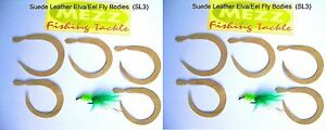Fly fishing Suede Leather Elva/Eel Fly Bodies (SL3)  (2 packs of 5)