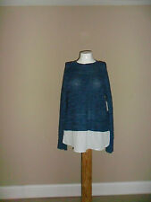Faded Glory Women's Marled Shaker 2fer Sweater Blue Size:XL(16-18) New with tag