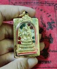 Buddha Thai Phra Somdej Gold Color LP Toh  Yant Amulet Pendant Magic Talisman