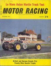 Motor Racing 09/1963 Aston Martin DB4GT Cooper-Zerex British & German GP Ford +