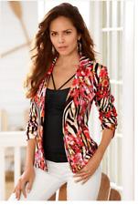 Awesome $139 Boston Proper Zebra Blossom Jacket Blazer, size 10, NEW