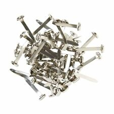 Pack of 50 Split Pins Paper Fasteners Office Stationery Arts Crafts Silver