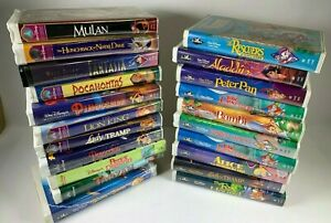 Disney VHS Lot Of 21 | Black Diamond | Masterpiece | Disney Classics | NTSC
