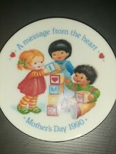 Vintage Avon 1990 Mothers Day Plate A Message From The Heart Mini Collectible