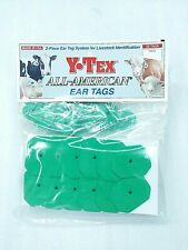 Y-Tex Swine Star 2-Piece Livestock Ear Tags Pig Hog 25 Pack Green 5711-000 Blank