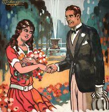 ORIGINAL POUR COUVERTURE DE LIVRE. AQUARELLE SUR PAPIER. J.DALMAU. ESPAGNE.1928