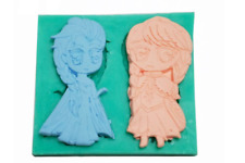 FROZEN ELSA AND ANNA PRINCESS SILICONE FONDANT CHOCOLATE CANDY MOLD