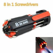 8 In 1 Multi-Screwdriver 6 LED Work Light Multifunction Portable Screwdriver