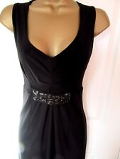 "FABULOUS BLACK OCCASION DRESS BY GEORGE UK-10 BUST 34"" HIPS 48"" VGC"