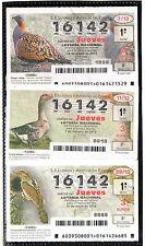 Cupones ONCE fauna Iberica año 2013 (BE-62)