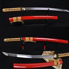 "31"" High Quality Japanese Samurai Sword WAKIZASHI Folded Steel Full Tang Blade"