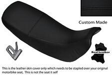 Puntada Negro Personalizado se ajusta a Honda Nx 650 Dominator 92-01 Cubierta de asiento de cuero doble