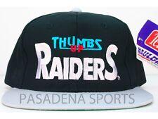 "LOS ANGELES RAIDERS VINTAGE 1991 SNAPBACK CAP NWT ""THUMBS UP"" MIKE UTLEY #60"