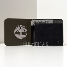 TIMBERLAND FIXED PASSCASE COW CRUNCH BROWN LEATHER MENS BIFOLD ID WALLET BAG NIB
