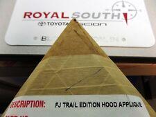 Toyota FJ Cruiser Trail Edition Flat Black Hood Applique Decal Genuine OE OEM