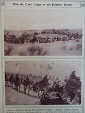 1917 WITH THE CAMEL CORPS ON THE PALESTINE BORDER; GERMAN EAST AFRICA WW1 WWI