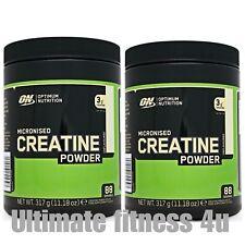 Optimum Nutrition ON 100% Pure Creatine Monohydrate Powder 317g x 2 = 634g