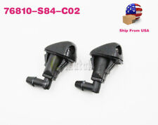 OEM 2X WINDSHIELD WASHER NOZZLE HOSE SPRAYER MOTOR FOR  ACCORD 98-02 76810S84C02