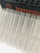 32 Jagermeister Test Tube Shot Glasses With Heavy Duty Shot Tray  That Holds 36