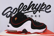 NIKE AIR PENNY II 2 MIAMI HEAT BLACK UNIVERSITY RED WHITE 333886 002 SZ 9.5