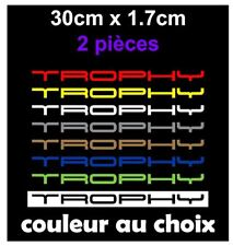 TROPHY Stickers Autocollants Pare choc Lame 30cm Clio RS megane RS 2x