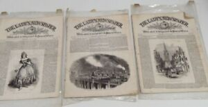 Bundle x3 The Lady's Newspaper Vintage Antique 1949 Collectible + Illustrations