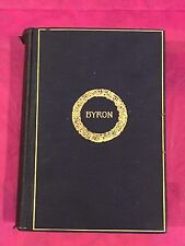 Complete Poetical Works of Lord Byron - Cambridge Edition Poems/Poetry VG 1905