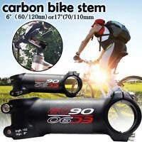 EC90 Full Carbon Fiber Bike Stem MTB Road Bike 6/17° Handlebar Riser 31.8 mm