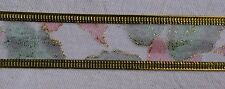 25mm Gold Wire Edged Organza Christmas Ribbon #1 (x 2.7 metres)