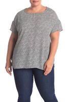 DR2 by Daniel Rainn Women's Drop Shoulder Short Sleeve Blouse Plus 1X NWT N3246