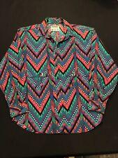 Wrangler Authentic Western Shirt-Womens Sz.M-Cotton/L Sleeve/2 Conchos
