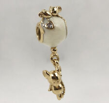 Genuine PANDORA Mouse and Balloon Charm 14k Gold Vermeil 797240EN23