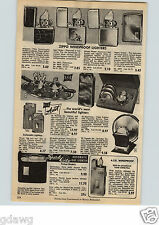 1954 PAPER AD Zippo Windproof Alligator Leather Sport Chrome Engine Turned