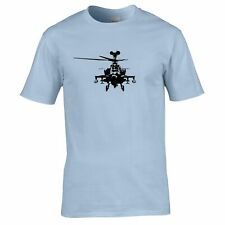 Military T Shirt Apache Attack Helicopter AH64 Army Pilot Chopper Aircraft