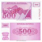 Slovenia 500 Tolarjev 1990 Specimen P-8s1 Banknotes UNC