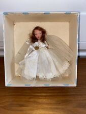 Vintage Nancy Ann Storybook Doll Redhead Bride #86 In Box Jointed Arms And Legs